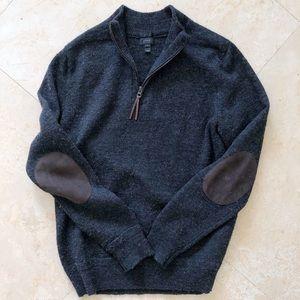 Men's JCrew Slim Merino Wool Zip Sweater